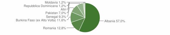 Grafico cittadinanza stranieri - Mura 2010