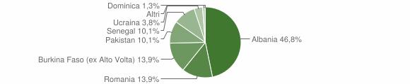 Grafico cittadinanza stranieri - Mura 2011