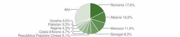 Grafico cittadinanza stranieri - Dalmine 2019