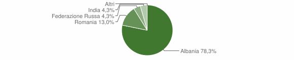 Grafico cittadinanza stranieri - Vione 2011
