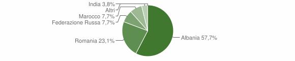 Grafico cittadinanza stranieri - Vione 2013