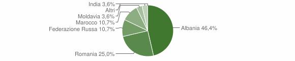 Grafico cittadinanza stranieri - Vione 2014