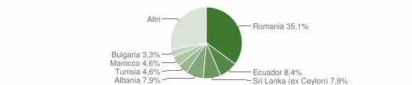 Grafico cittadinanza stranieri - Casalmaiocco 2011