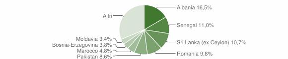 Grafico cittadinanza stranieri - Nave 2008