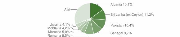 Grafico cittadinanza stranieri - Nave 2010