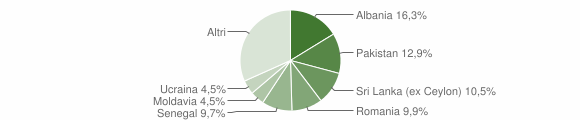 Grafico cittadinanza stranieri - Nave 2011