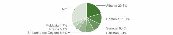 Grafico cittadinanza stranieri - Nave 2017