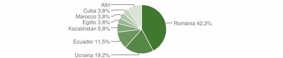 Grafico cittadinanza stranieri - Ponte Nizza 2015