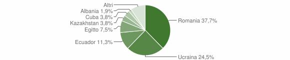 Grafico cittadinanza stranieri - Ponte Nizza 2019