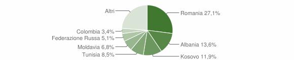 Grafico cittadinanza stranieri - Roncola 2019