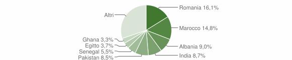 Grafico cittadinanza stranieri - Mazzano 2016