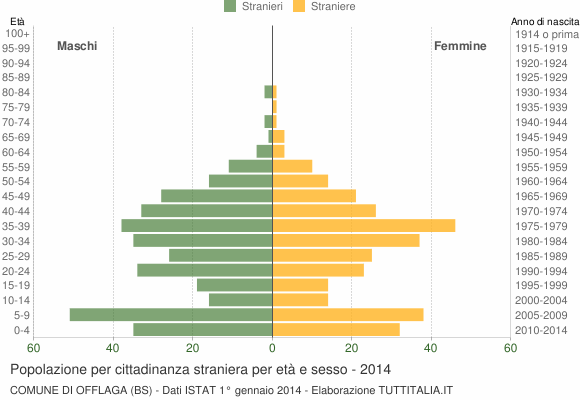 Grafico cittadini stranieri - Offlaga 2014