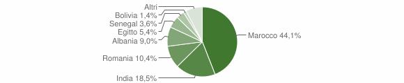 Grafico cittadinanza stranieri - Pagazzano 2019