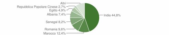 Grafico cittadinanza stranieri - Verolavecchia 2009
