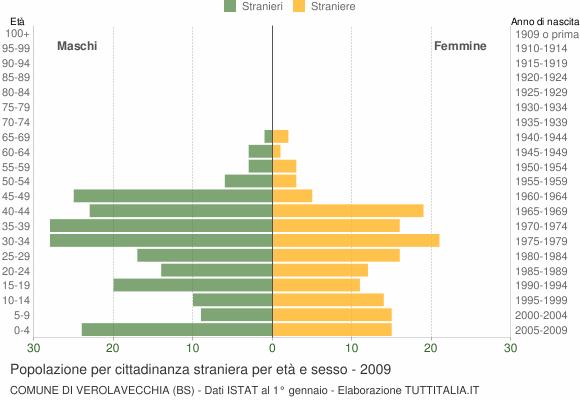 Grafico cittadini stranieri - Verolavecchia 2009