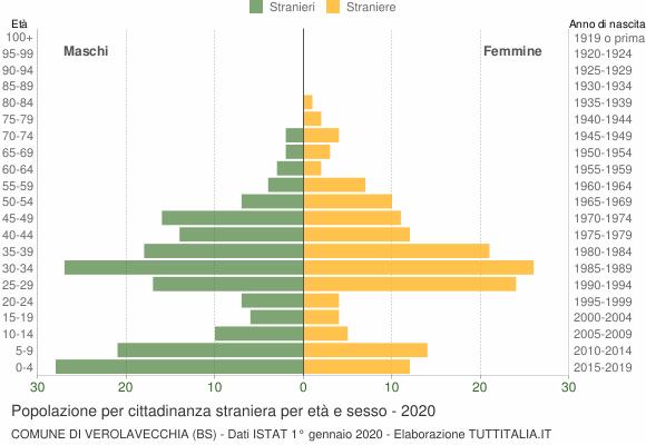 Grafico cittadini stranieri - Verolavecchia 2020