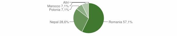 Grafico cittadinanza stranieri - Maccastorna 2009