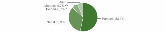 Grafico cittadinanza stranieri - Maccastorna 2011