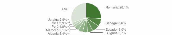 Grafico cittadinanza stranieri - Roncello 2019