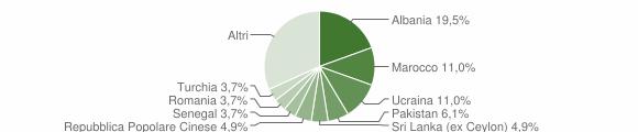 Grafico cittadinanza stranieri - Senna Comasco 2019