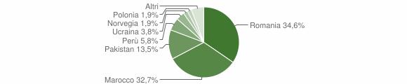 Grafico cittadinanza stranieri - Battuda 2019