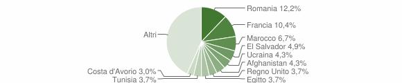 Grafico cittadinanza stranieri - Casciago 2019