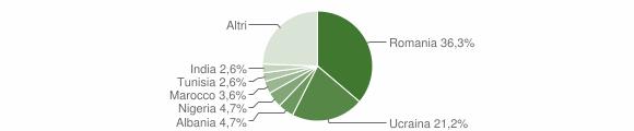 Grafico cittadinanza stranieri - Lungavilla 2019