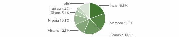 Grafico cittadinanza stranieri - Remedello 2009