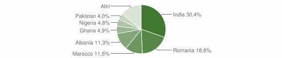 Grafico cittadinanza stranieri - Remedello 2016