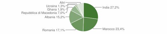 Grafico cittadinanza stranieri - Torre Pallavicina 2010