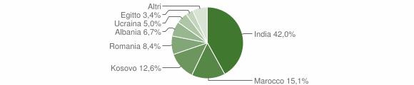 Grafico cittadinanza stranieri - Torre Pallavicina 2019