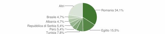 Grafico cittadinanza stranieri - Chieve 2010