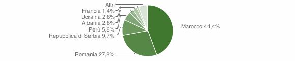 Grafico cittadinanza stranieri - San Fiorano 2011