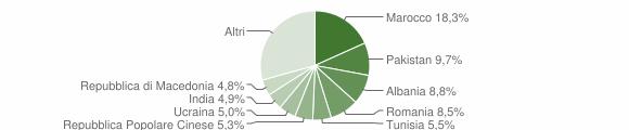 Grafico cittadinanza stranieri - Torbole Casaglia 2010