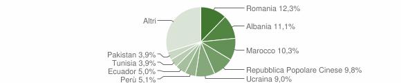 Grafico cittadinanza stranieri - Canegrate 2018