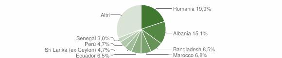 Grafico cittadinanza stranieri - Carnate 2012