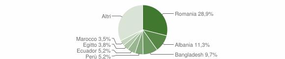 Grafico cittadinanza stranieri - Carnate 2016