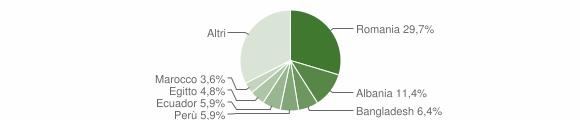 Grafico cittadinanza stranieri - Carnate 2017
