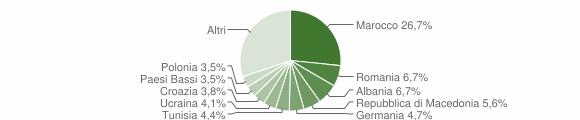 Grafico cittadinanza stranieri - Moniga del Garda 2009
