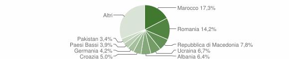Grafico cittadinanza stranieri - Moniga del Garda 2014