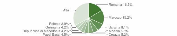 Grafico cittadinanza stranieri - Moniga del Garda 2019