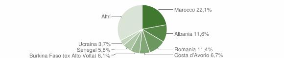 Grafico cittadinanza stranieri - Villanuova sul Clisi 2008
