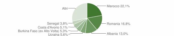 Grafico cittadinanza stranieri - Villanuova sul Clisi 2011