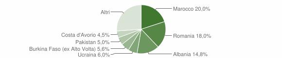 Grafico cittadinanza stranieri - Villanuova sul Clisi 2012