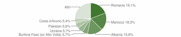 Grafico cittadinanza stranieri - Villanuova sul Clisi 2015