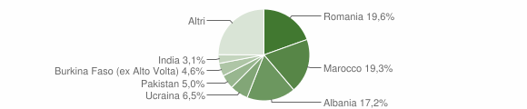 Grafico cittadinanza stranieri - Villanuova sul Clisi 2017