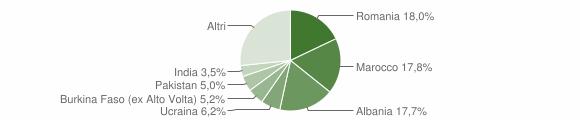 Grafico cittadinanza stranieri - Villanuova sul Clisi 2018