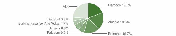 Grafico cittadinanza stranieri - Villanuova sul Clisi 2019