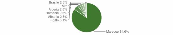 Grafico cittadinanza stranieri - Anfo 2008