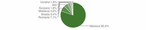 Grafico cittadinanza stranieri - Anfo 2013